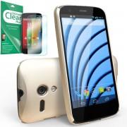 Husa Protectie Spate Ringke Slim Royal Gold plus folie protectie pentru Motorola Moto G