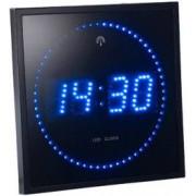 Lunartec Horloge digitale murale avec 60 LED - Radiopilotée - Bleu