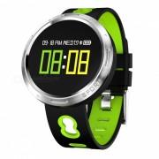 Pulsera inteligente de la pantalla tactil a color X9-VO con control de sueno de oxigeno en la sangre de la presion arterial del ritmo cardiaco del podometro - verde
