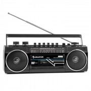 Duke Retro-Kassettenradio tragbarer Kassettenplayer USB SD Bluetooth FM-Radio