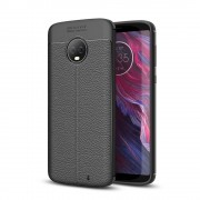 Motorola Moto G6 Plus Удароустойчив Litchi Skin Калъф и Протектор