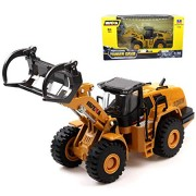 Ailejia 1/50 Scale Diecast Articulated Dump Truck Alloy Models Construction Vehicle s Model Engineering Car Toy boy Gift (Wood Grab)