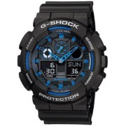 Casio G-Shock Analog-Digital Blue Dial Men's Watch - GA-100-1A2DR (G271)