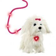 Animagic Molly Goes Walking Dog Toy Light Up Heart Pendant That Glows When She Walks