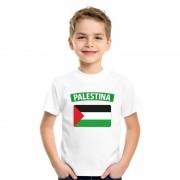 Bellatio Decorations T-shirt Palestijnse vlag wit kinderen L (146-152) - Feestshirts