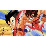 goku vs vegeta saiyan saga sticker poster|dragon ball z poster|anime poster|size:12x18 inch|multicolor