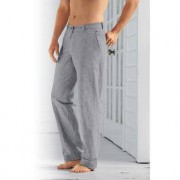 """Comfortable Drawstring Trousers, 46""""S - Grey"""