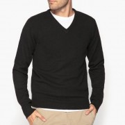 Pull col V 100% laine lambswool