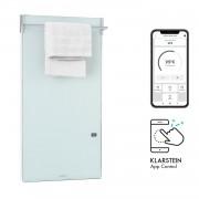 Klarstein Hot Spot Crystal Spotless Smart, инфрачервен нагревател, 750 W, приложение, бял (HTR2-HtSptCrystSpSW)