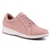 Сникърси CLARKS - Un Adorn Lace 261487094 Dusty Pink Combi