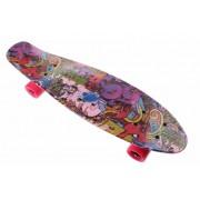 Toi-Toys Toi Toys skateboard met graffiti print 60 cm roze