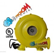Bounce House Blower - 1hp 780 Watt Zoom Commercial Air Blower for Inflatables, Slides, Water Slide,