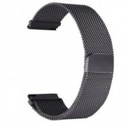 Curea tip Milanese Loop compatibila Sony Smartwatch 2 SW2 telescoape QR Negru