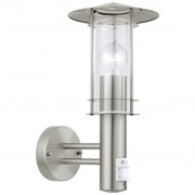 EGLO Utomhusvägglampa med sensor Lisio 60 W silver 30185