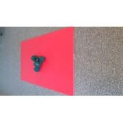 Karimatka AEROBIC 90 cm červená + 2 kusy činky neopren 1,5 kg zelené Lerko