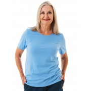 Senior's Choice Sky Crew Neck Tee Shirt - Sky Blue 16