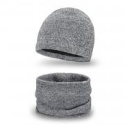 Zimowy komplet męski PaMaMi - czapka i komin