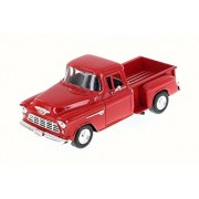 1955 Chevy 5100 Stepside Pick Up, Red - Motor Max 73236WB - 1/24 Scale Diecast Model Toy Car