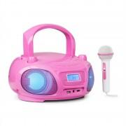 Auna Roadie Sing, CD boombox, FM радио, светлинно шоу, CD плейър, микрофон, розов (MG3-Roadie 2.0 PK)