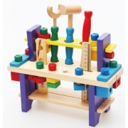 Childrens Nut Combination Disassembling Tool Table! Childrens Educational Toys!Wooden Children Simulation Toys!Qz 01