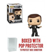 "Funko Pop! Movies: James Bond 007 - Roger Moore ""The Spy Who Loved Me"" Vinyl Figure (Bundled with Pop BOX PROTECTOR CASE)"