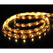 LED szalag , 3528 , 60 led/m , 3,6W/m , sárga méteres