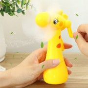 Raising Safe Portable Hand Crank Mini fan without Battery for Kids Toy Gift