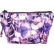 Everyday Desire Multipurpose Cosmetic Makeup Pouch For Women - Butterflies Purple Travel Toiletry Kit(Multicolor)