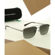 United Colors of Benetton Rectangular Sunglasses(Green)