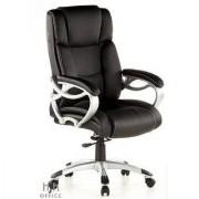 Hjh Poltrona executive ergonomica Triton 400, pelle nera