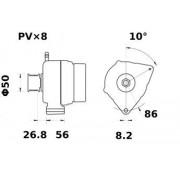 Letrika Alternateur IA0738 14V 95A