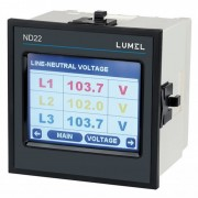Analizor retea electrica LUMEL ND22, masurare parametri retele monofazate si trifazate, MODBUS, RS485, iesiri in impuls sau alarma