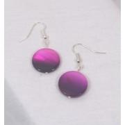 Two tone Purple LUSTRE DROP EARRINGS COPY COPY COPY