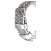 Casemate Brilliance Leather Strap - луксозна кожена (естествена кожа) каишка за Apple Watch 42мм (сребрист)