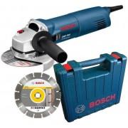 Bosch Blauw GWS 1400 Haakse slijper 1.400w + diamantschijf in koffer