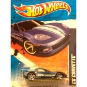 2011 Hot Wheels HW Main Street C6 Corvette [City of Lafayette POLICE] Blue #164/244