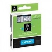 Dymo D1 Label Cassette 12mmx7m (SD45020) - White on Transparant