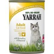 Pate Bio de pui cu spirulina si alge marine pentru pisici, 400g, Yarrah