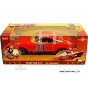 Amm964 Auto World Silver Screen Machines - The Dukes of Hazzard General Lee Dodge Charger #01 (1969, 1:18, Orange...