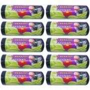 Pachet 10 bucati - Saci menajeri 60L pentru pubela Sac plastic pentru menaj gunoi frunze deseuri 10 x 50buc