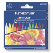 Creioane colorate cerate 12 culori / set Staedtler ST220NC12