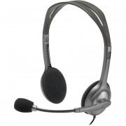 Diadema Logitech H111 Ajustable 981-000612-Gris