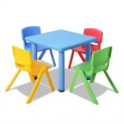 Set of 5 - Kids Table and Chairs Playset - Blue