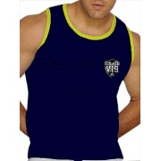 Good Boy Gone Bad Manny Muscle Tank Top T Shirt Blue/Yellow GBTTCL605
