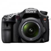 Sony Cámara Reflex Sony Alpha SLT-A77VK Negro + Objetivo 18 55 mm f-3.5 5.6 Sony DT SAM