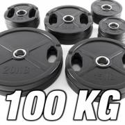 IRONSPORTS Vorteilspaket! 100 kg - Gummi Gripper - 50 mm - Sortierung frei wählbar