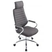 CLP Poltrona ufficio Rako in tessuto, grigio scuro , grigio scuro, altezza seduta