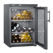 Vitrina pentru vinuri Liebherr WKb 1802, 134 L, 66 sticle, Rafturi metalice, Control mecanic, H 90.1 cm, Clasa B, Negru