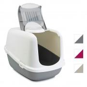Savic Nestor Jumbo котешка тоалетна, Д 66,5 x Ш 48,5 x В 46,5 см - Цвят: светлосив / бял