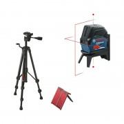 Nivela laser cu linii si puncte Bosch GCL 2-15 cu stativ BT 150